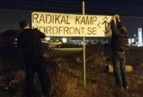 Banderolluppsättning i Örebro