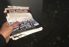 Antisionistisk propagandaspridning i Ängelholm