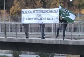 Banderollaktion i södra Stockholm