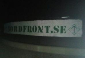 Nordfront-banderoller uppsatta i Trelleborgs kommun