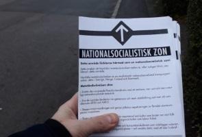 Nationalsocialistisk flygbladsutdelning i Västervik
