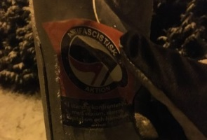 Märken från kriminell och antisvensk hatklubb exstirperades i Munkedal