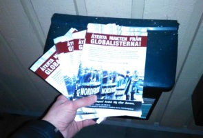 Propagandaspridning i Hässleholm