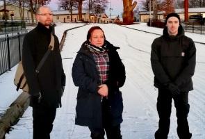Perfekt vinterdag för aktivism på småländska landsbygden