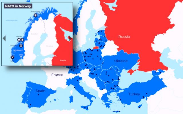 Karta Europa Pa Svenska.Karta Over Krigsalliansen Natos Militarbaser I Europa Och