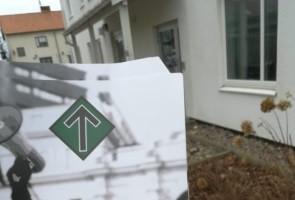 Flygbladsutdelning till hushåll i Mönsterås