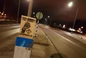 Propagandaspridning i Falun
