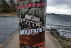 Klistermärken uppsatt i Uddevalla