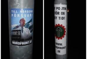 Affischer och klistermärken uppsatta i Vänersborg