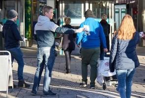Kampgruppen i Näste 1 besökte Brommaplan, Stockholm