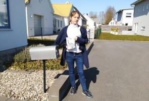 Flygbladsutdelning i Ystads kommun