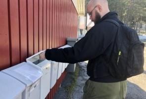 Brevlådeutdelning i Luleå