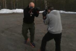 Gemensam kampsportsträning i Luleå