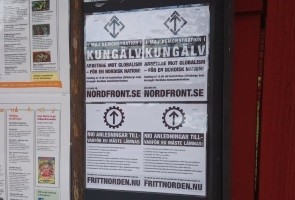 Aktion i Linköping inför 1 maj