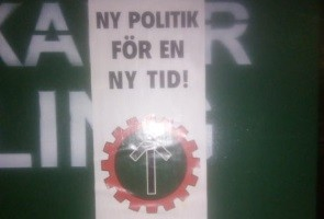 Nattaktivism i centrala Vänersborg