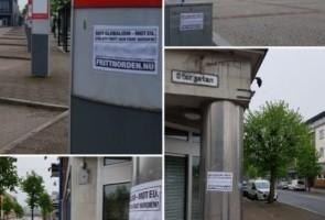 Slutspurt inför EU-valet: Affischering i Vetlanda