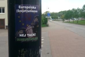 Herrljunga fick Nordiska motståndsrörelsens syn på EU