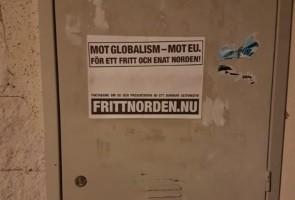 Inför EU-valet på söndag: Affischering i Hultsfred