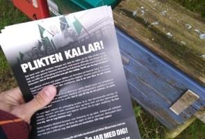 Informationsutdelning i Ystads kommun