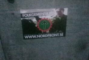 Klistermärken uppsatta i Vänersborgs kommun