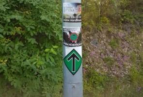 Klistermärken uppsatta i Avesta kommun