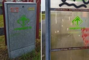 Riksrunan sprayades i Jönköpings kommun