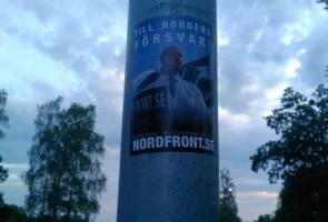 400 klistermärken sattes upp i Hässleholm