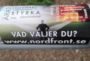 Propagandaspridning i Uddevalla