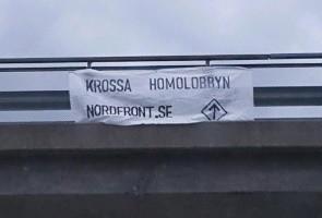 Banderollaktion i Marks kommun