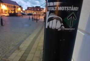 Klistermärkesuppsättning i Laholm