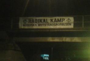 Banderolluppsättning i Skövde