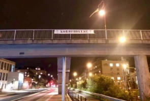 Banderollaktion i Helsingborg