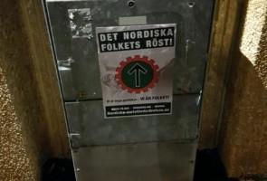 Propagandaspridning i Herrljunga
