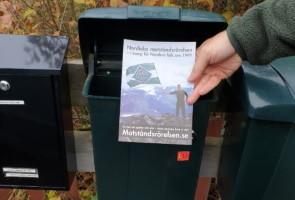 Flygblad delades ut i Borlänge kommun