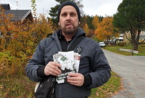 Flygbladsutdelning i Örnsköldsvik