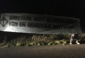 Banderoller upphängda i Varberg