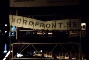 Banderoller sattes upp i Eskilstuna