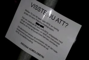 Aktion mot homolobbyn i Herrljunga