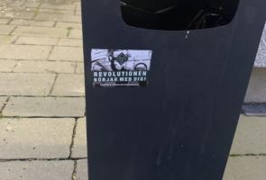 Klistermärken i Växjö