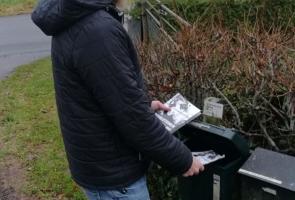 Östra Sönnarslöv fick flygblad