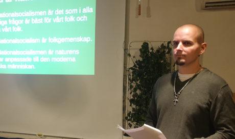 Simon Lindberg höll föredrag om nationalsocialismen i Dalarna