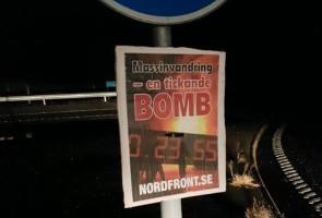 Plakatuppsättning i västra Borås kommun