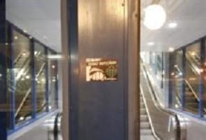 Propaganda uppsatt i centrala Nässjö