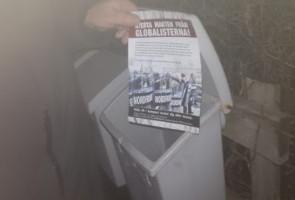 Propagandaspridning i Kristinehamn