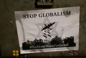 Stop globalism-affischer i Gislaveds kommun