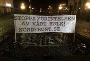 Banderollaktion i Karlskrona