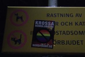 Klistermärkesuppsättning i Karlstad