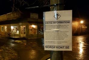 Plakatuppsättning i nordöstra Marks kommun